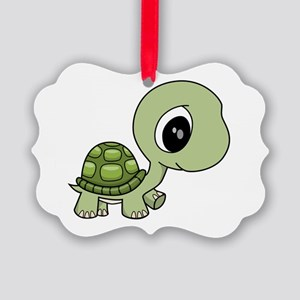 Baby Turtle Picture Ornament