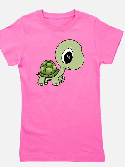 Green Baby Turtle Girl's Tee