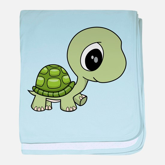 Green Baby Turtle baby blanket