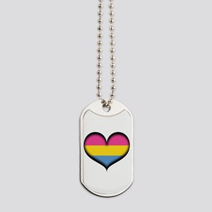 Pansexual Heart Dog Tags