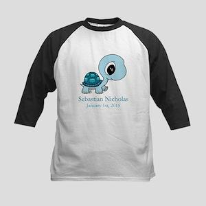 CUSTOM Baby Blue Turtle w/Name and Date Baseball J