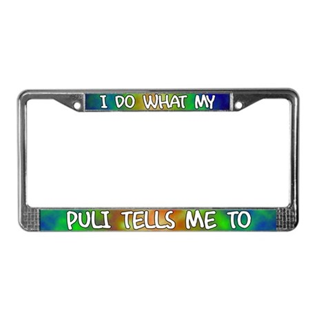 Do what Puli License Plate Frame