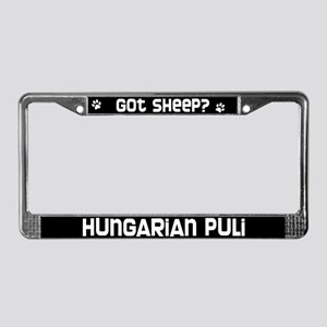 got sheep? Hungarian Puli License Plate Frame