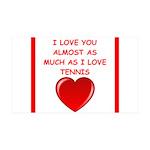 tennis joke Wall Decal
