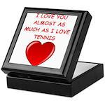 tennis joke Keepsake Box