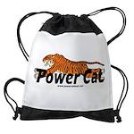 Power Cat Logo Drawstring Bag