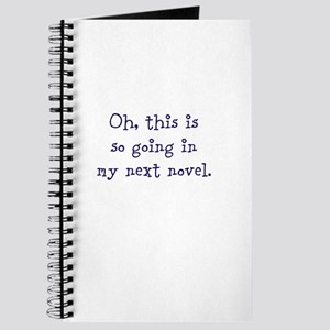 ...in my next novel. Journal