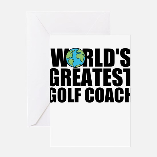 World's Greatest Golf Coach Greeting Cards