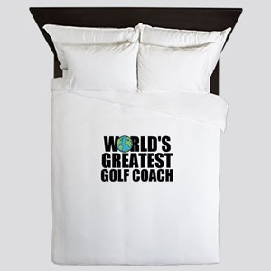 World's Greatest Golf Coach Queen Duvet
