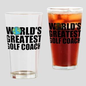 World's Greatest Golf Coach Drinking Glass