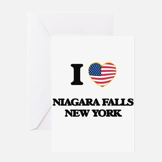 I love Niagara Falls New York Greeting Cards
