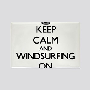 Keep Calm and Windsurfing ON Magnets