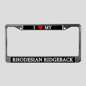 Love Rhodesian Ridgeback License Plate Frame