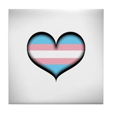 Transgender Heart Tile Coaster