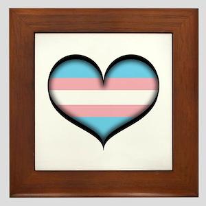 Transgender Heart Framed Tile
