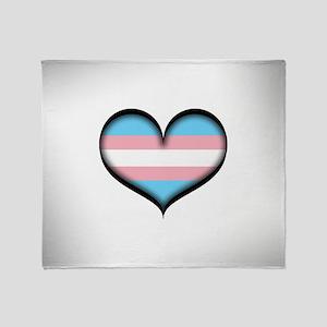 Transgender Heart Throw Blanket