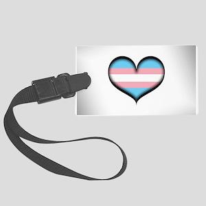 Transgender Heart Large Luggage Tag