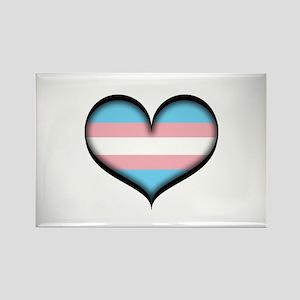 Transgender Heart Rectangle Magnet