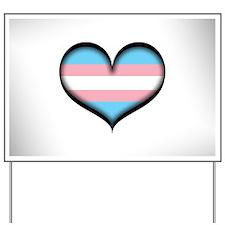 Transgender Heart Yard Sign