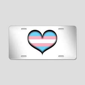 Transgender Heart Aluminum License Plate