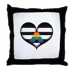 LGBT Ally Heart Throw Pillow