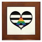 LGBT Ally Heart Framed Tile