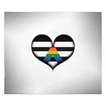 LGBT Ally Heart King Duvet