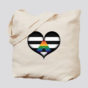 LGBT Ally Heart Tote Bag