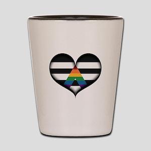 LGBT Ally Heart Shot Glass