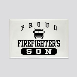 Proud Firefighter's Son Rectangle Magnet