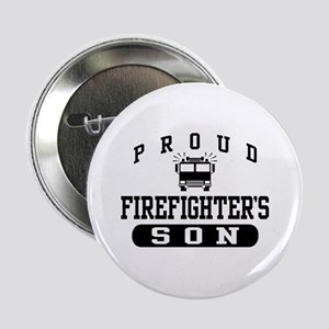 Proud Firefighter's Son Button