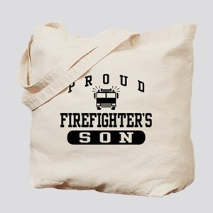 Proud Firefighter's Son Tote Bag