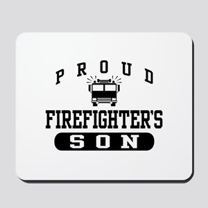 Proud Firefighter's Son Mousepad