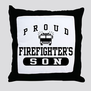 Proud Firefighter's Son Throw Pillow