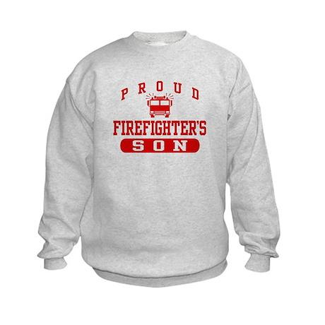 Proud Firefighter's Son Kids Sweatshirt