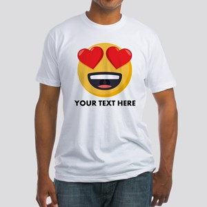 I Love You Personalized Fitted T-Shirt