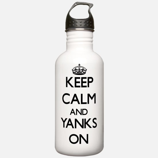 Keep Calm and Yanks ON Water Bottle