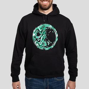Aqua Marble Stain Hoodie (dark)