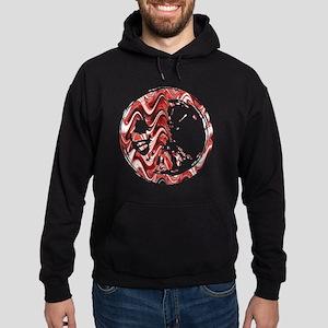 Red Marble Stain Hoodie (dark)
