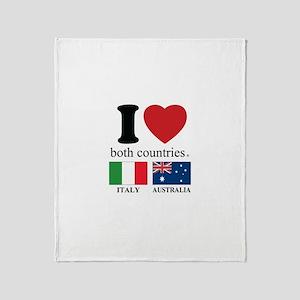ITALY-AUSTRALIA Throw Blanket