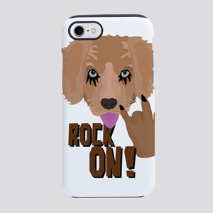 Heavy metal Puppy rock on iPhone 7 Tough Case