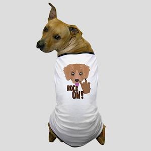 Heavy metal Puppy rock on Dog T-Shirt