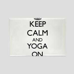 Keep Calm and Yoga ON Magnets