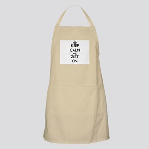 Keep Calm and Zest ON Apron