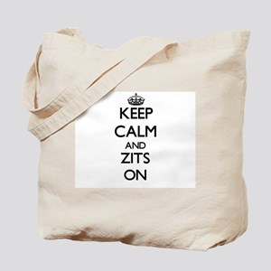 Keep Calm and Zits ON Tote Bag