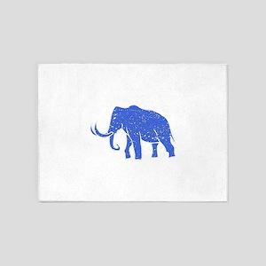 Distressed Blue Mammoth 5'x7'Area Rug