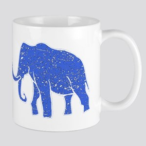 Distressed Blue Mammoth Mugs