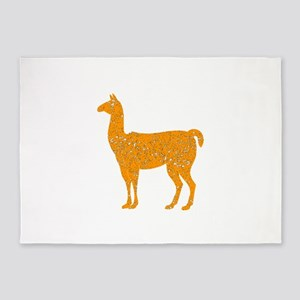 Distressed Orange Llama 5'x7'Area Rug