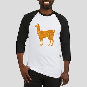 Distressed Orange Llama Baseball Jersey
