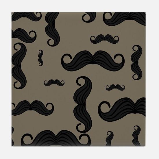Cute Mustache Tile Coaster